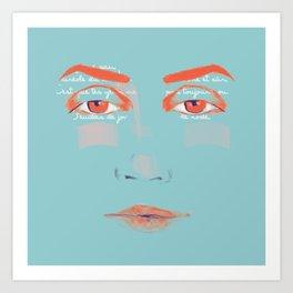 La Courbe de tes Yeux Art Print