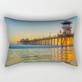 Orange Sunset in Orange County Rectangular Pillow