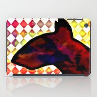 bull terrier iPad Cases featuring Bull Terrier Jester by Erin Conover
