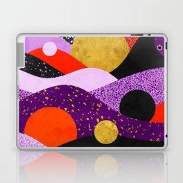 Terrazzo galaxy purple orange gold Laptop & iPad Skin
