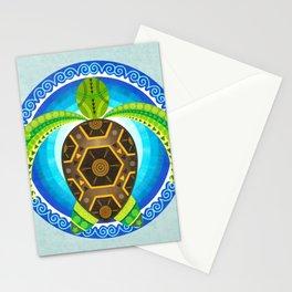Geometric turtle Stationery Cards