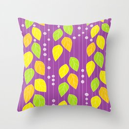 SOUND LEAVES Throw Pillow