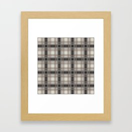 Brown Plaid with tan, cream and gray Framed Art Print
