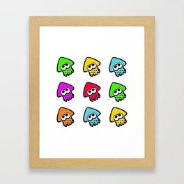 splatoon cute pattern Framed Art Print