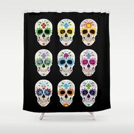 Nine skulls Shower Curtain