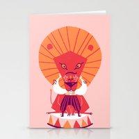 be brave Stationery Cards featuring Brave by Carolina Búzio