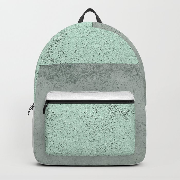MINT TEAL GRAY CONCRETE CIRCLE Backpack