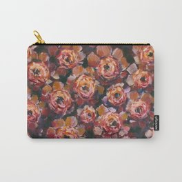 Red violet flowers rose peony oil painting by artist Valery Rybakow! Carry-All Pouch