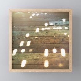Wooden floor of Covered Bridge in Felton Framed Mini Art Print