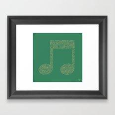 Techno Music Framed Art Print