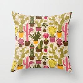 Cactus Cuties Throw Pillow