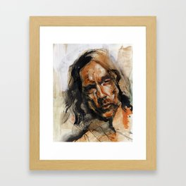 The Face Framed Art Print