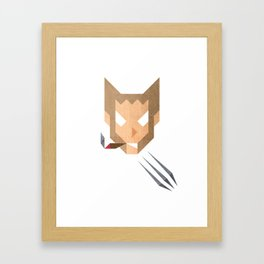 The Triangulars: W0lverine Raw Framed Art Print