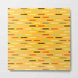 Modern Scandinavian Dash Multi Yellow Metal Print