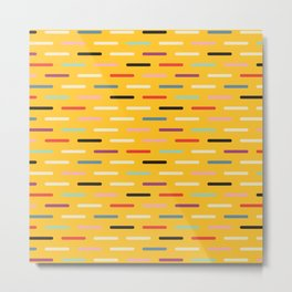 Modern Scandinavian Dash Multi Yellow Metal Print