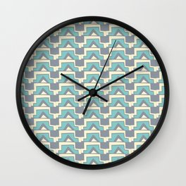 Elegant Modern Geometric Lines Pale Blue Wall Clock