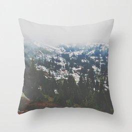 Mount Rainier in July Throw Pillow
