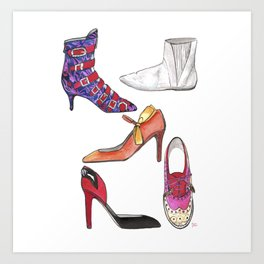 Shoes While Thinking of Andy Art Print