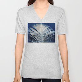 Feather | Feathers | Spiritual | White and Blue Feather | Nature Unisex V-Neck