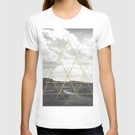 Gold Glitter Sacred Geometry T-shirt