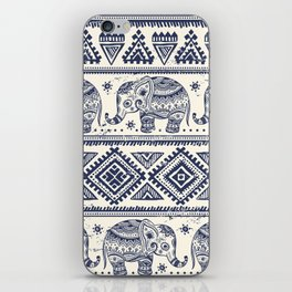 Vintage graphic vector Indian lotus ethnic elephant iPhone Skin