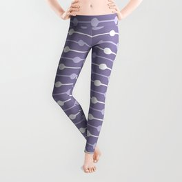 Dots Stripes Ultraviolet Leggings