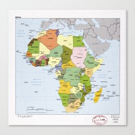 Map of Africa (1989) Canvas Print