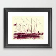 Never sail under false colors Framed Art Print