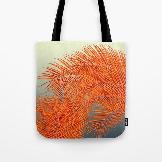 Palm Leaves, Orange by jirkasvetlik