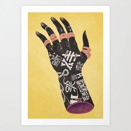 Left Handed Power Glove Art Print