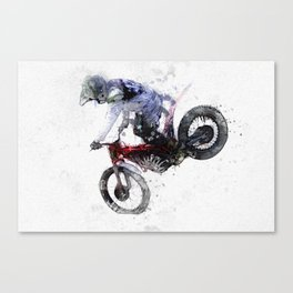Nose Stand - Motocross Move Canvas Print