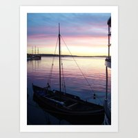 oslo Art Prints featuring Sunset Oslo by Samantha Snyder