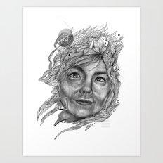 Björk Art Print