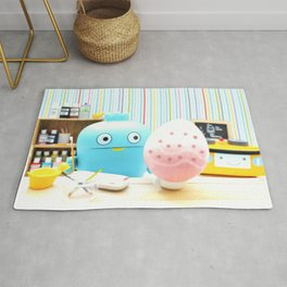 Easter Canvas Rug