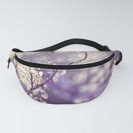 Purple Nature Photography, Violet Botanical Yellow Cream Photograph Fanny Pack