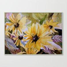 Sunlight through the Daisies Canvas Print