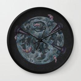 Crow Full Moon (March) Wall Clock