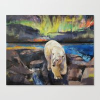 northern lights Canvas Prints featuring Northern Lights by Michael Creese