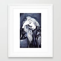 sky ferreira Framed Art Prints featuring Sky Ferreira Leather Jacket by Asquared2Art