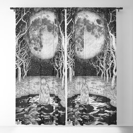 The Moonlight Bather Blackout Curtain