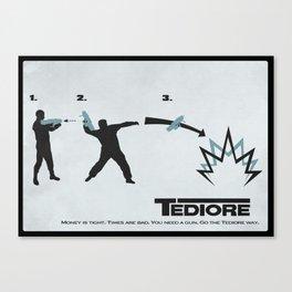 Tediore User Instructions Canvas Print