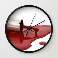 nail polish Wall Clocks featuring nail polish by Sissy Kreka