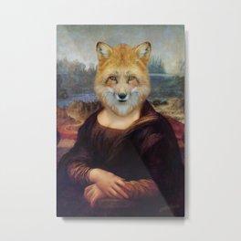 Foxy Mona Metal Print