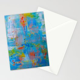 Colorful Abstract Wall Art, Vibrant colors, Contemporary home decor Stationery Cards