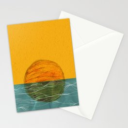 Swimming Sun Stationery Cards