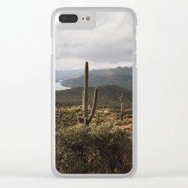 Desert River Sunset Clear iPhone Case