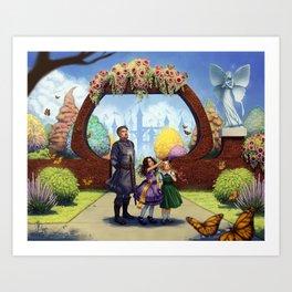 In The Gardens Art Print