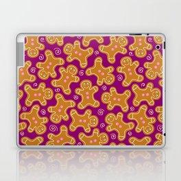 Gingerbread Men on Purple Laptop & iPad Skin