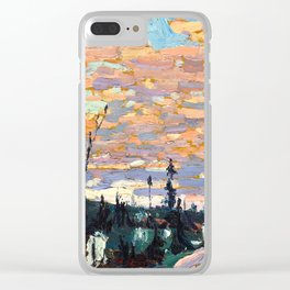 Tom Thomson - Wild Cherries, Spring - Canada, Canadian Oil Painting - Group of Seven Clear iPhone Case