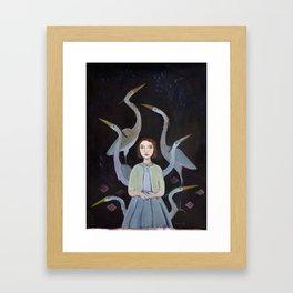 Siege of Herons Framed Art Print